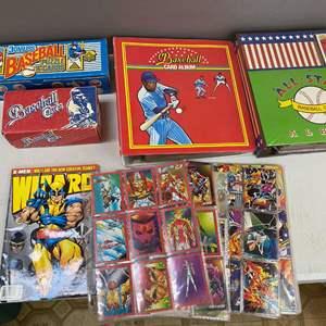 Lot # 122 - Large Lot of Sports Cards (Baseball, Basketball, Football, Comics)