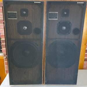 Lot # 128 - Pair of Pioneer 3 Way Speaker System Speakers