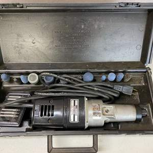 Lot # 136 - Sears Craftsman Industrial Die Grinder Double Insulated with Bits
