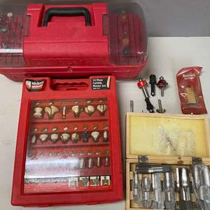 Lot # 138 - Large Lot of Router Bits and other items
