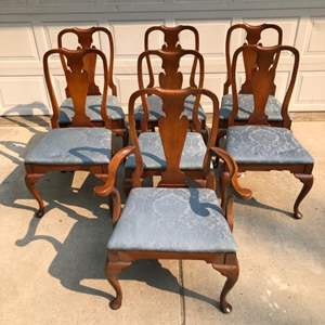 Lot # 190 - 1960's Hickory Chair Co. Hickory N.C. byFrederic Bruns Dining Chairs - 6 Side Chairs - 1 Master Chair