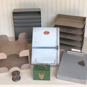 Lot # 191 - Vintage Office File and Storage Equipment