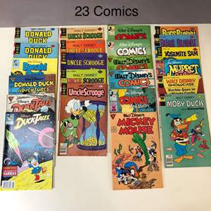 Lot # 196 - Lot of 23 Vintage Donald Duck, Uncle Scrooge and other Comics
