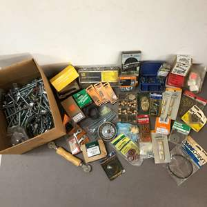 Lot # 229 - Lot of Bolts, Nuts, Screws, Washers and Many Other Items