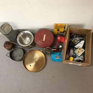 Lot # 233 - Lot of Oil Containers and many other items