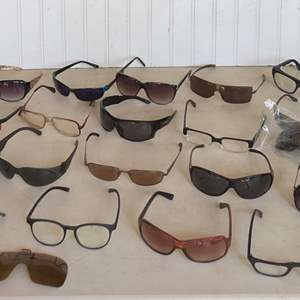 Lot # 295 - Large Collection of Eye Glasses - Sunglasses, Readers, and Safety Glasses