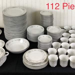 "Lot # 300 - Huge Lot of ""Diane"" Fine Porcelain China by Wade"