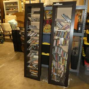 Auction Thumbnail for: Lot # 32 -  Two Shelf Inserts Full of Miscellaneous CD's (CD's Not Checked)( Shelves Shifted in Move)