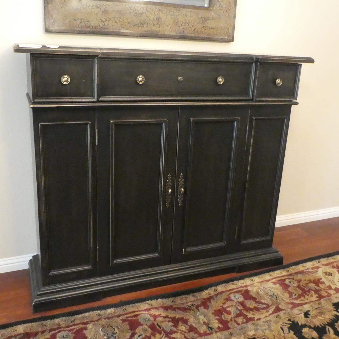 Lot # 53 - Wooden Buffet Sideboard w/Drawers & Shelves (main image)