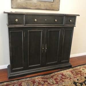 Lot # 53 - Wooden Buffet Sideboard w/Drawers & Shelves