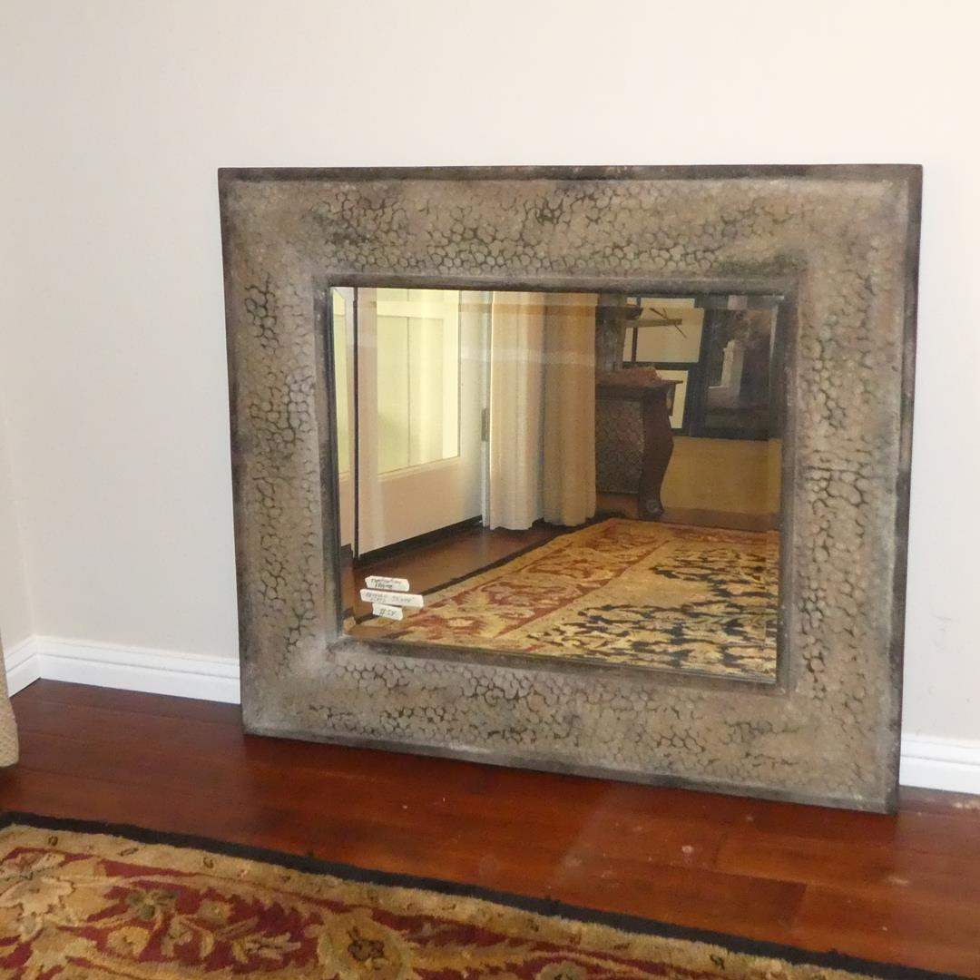 Lot # 54 - Large Framed Beveled Glass Wall Mirror  (main image)