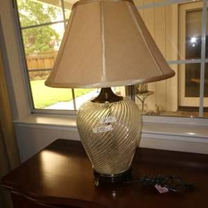 Lot # 58 - Swirled Glass Table Lamp