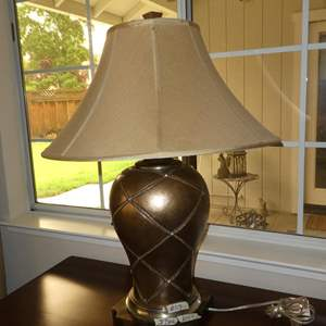 Lot # 59 - Bronze Colored Resin Table Lamp