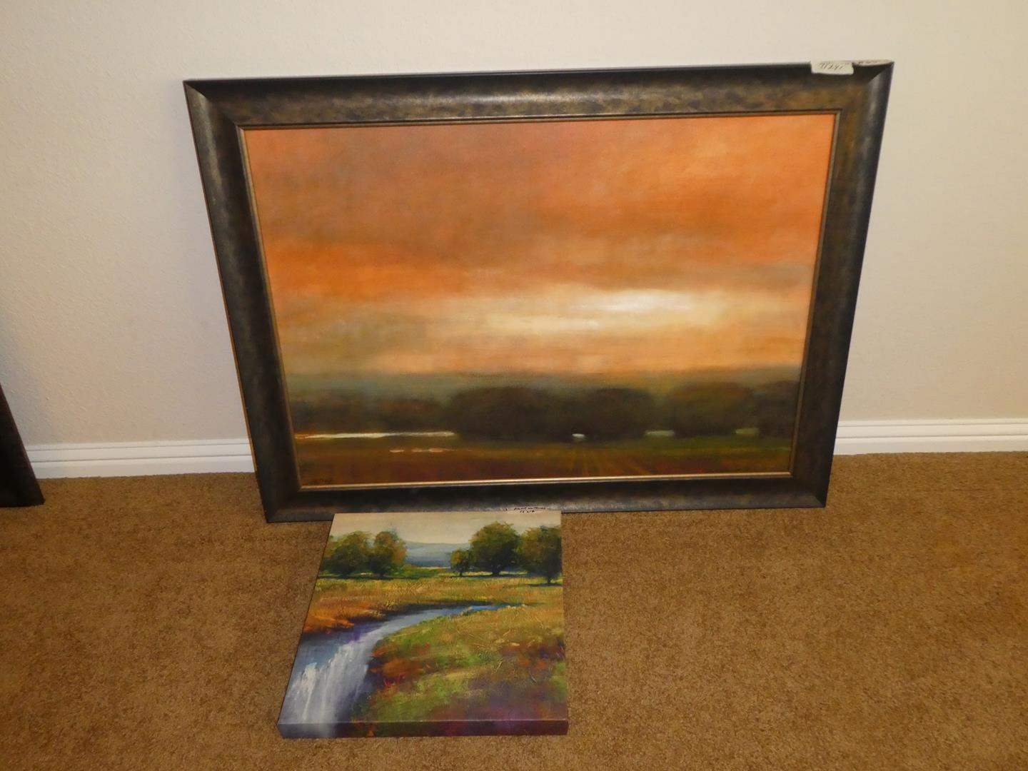 """Lot # 68 - Large Framed Signed Numbered Print """"Fields I"""" 19/150 by Lisa Joyce-Hill & Print on Canvas (main image)"""