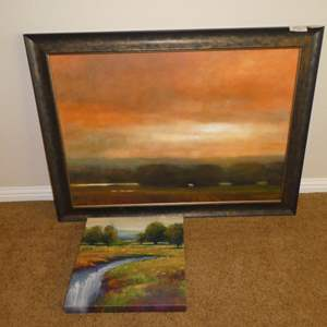 """Lot # 68 - Large Framed Signed Numbered Print """"Fields I"""" 19/150 by Lisa Joyce-Hill & Print on Canvas"""