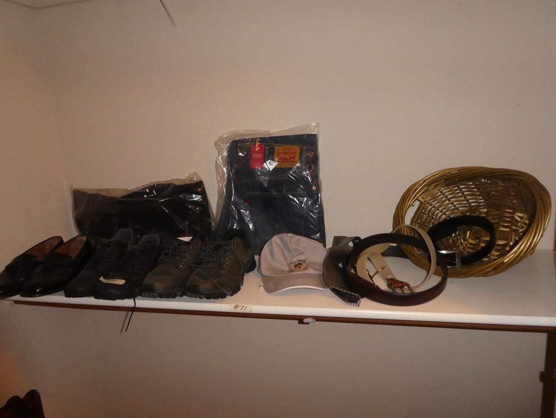 Lot # 71 - Bostonian Men's Leather Dress Shoes, 5.11 Recon Trainer, Merrell Performance Footwear, Eddie Bauer Vest & 550 Levi's (main image)
