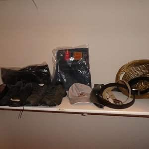 Lot # 71 - Bostonian Men's Leather Dress Shoes, 5.11 Recon Trainer, Merrell Performance Footwear, Eddie Bauer Vest & 550 Levi's