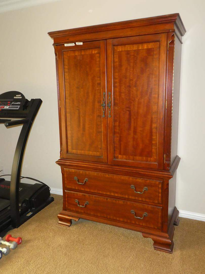 Lot # 73 - Tall Wooden Cabinet w/Shelves & Drawers (main image)