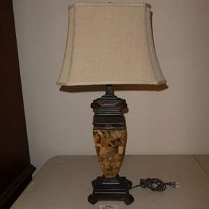 Lot # 78 - Marble & Resin Base Table Lamp