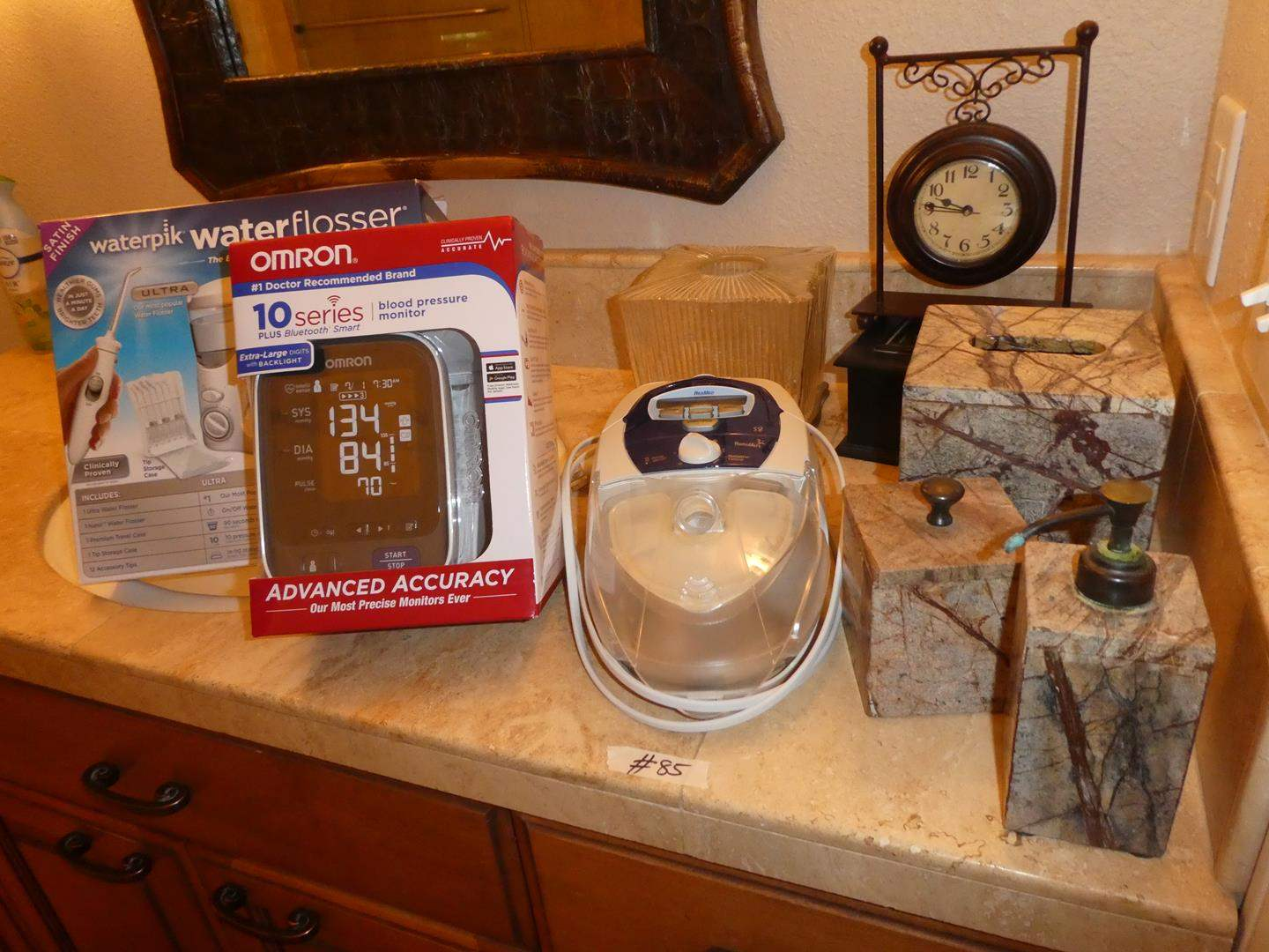 Lot # 85 - Blood Pressure Monitor, Waterpik Flosser, ResMed S8 Escape CPAP Machine w/Integrated Heated Humidifier & More (main image)