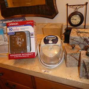 Lot # 85 - Blood Pressure Monitor, Waterpik Flosser, ResMed S8 Escape CPAP Machine w/Integrated Heated Humidifier & More