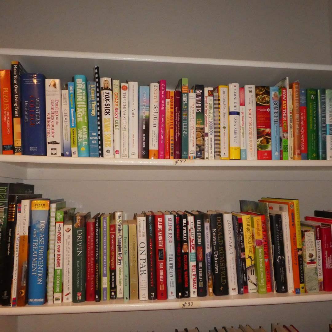 Lot # 87 - Big Lot Assorted Books & Cookbooks (main image)