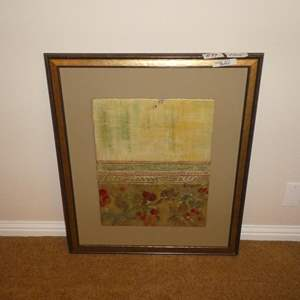 Lot # 89 - Large Framed Wax Art Painting