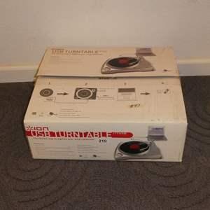 Lot # 97 - ION USB Turntable (NIB) For Digitizing Vinyl Records