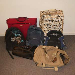 Lot # 100 - Assorted Rolling Luggage & Backpacks