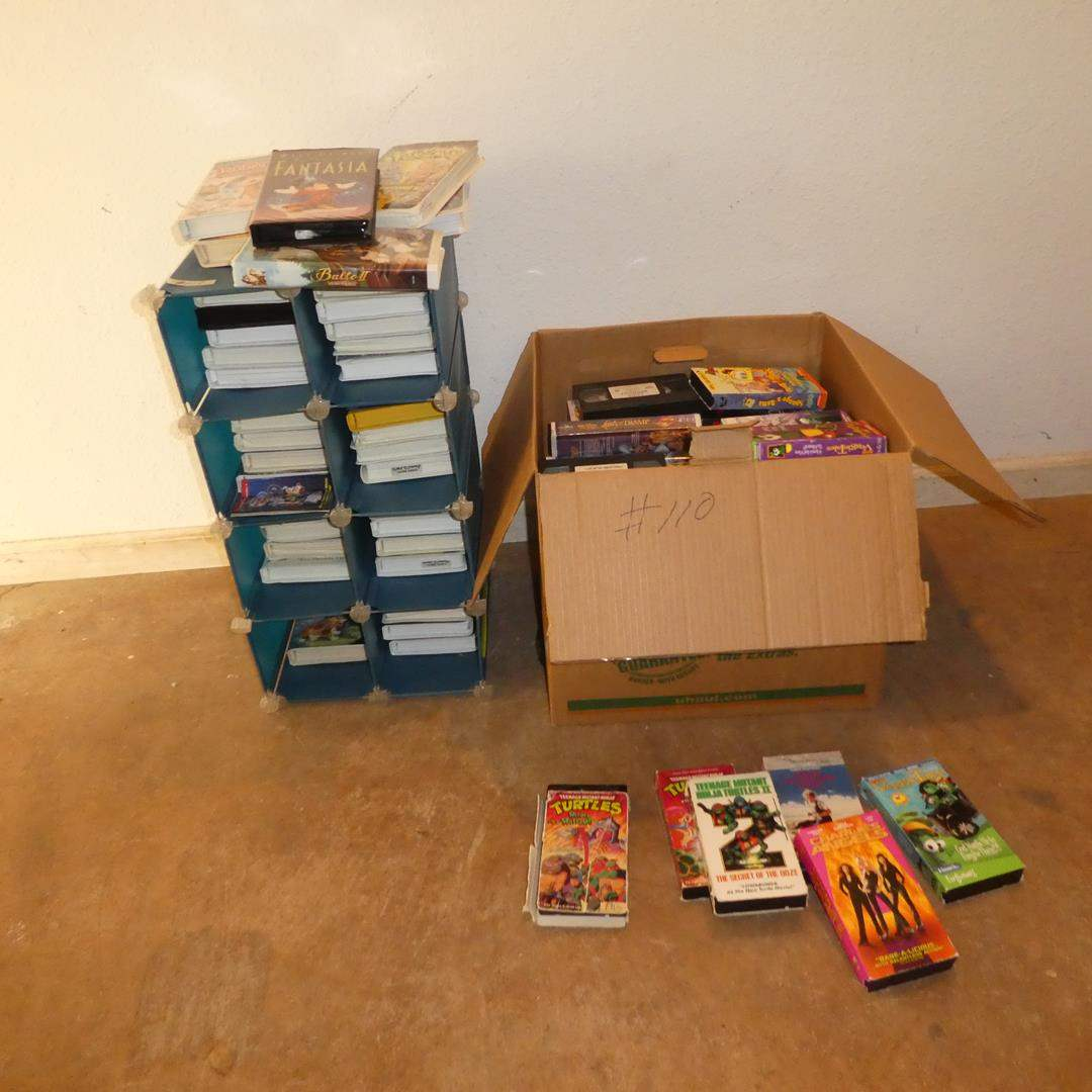 Lot # 110 - Large Lot of Kids & Family VHS Movies (main image)