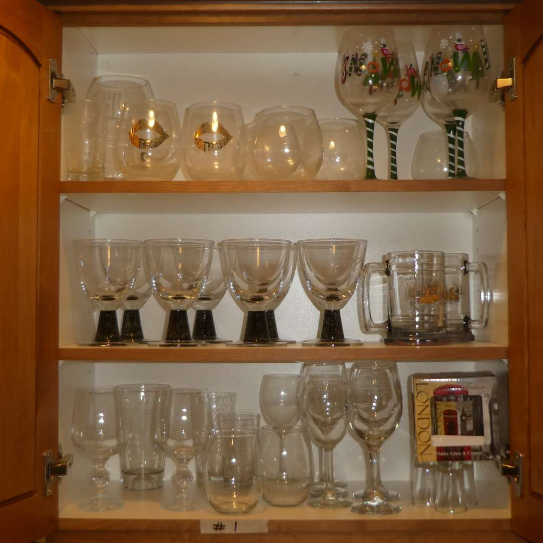Lot # 1 - Assorted Glass Stemware  (main image)