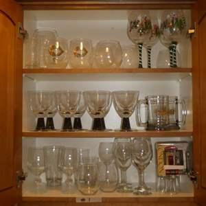 Lot # 1 - Assorted Glass Stemware