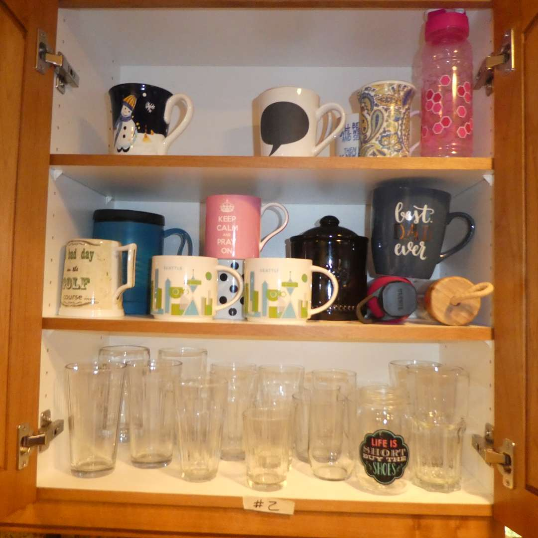 Lot # 2 - Assorted Cups & Coffee Mugs (main image)
