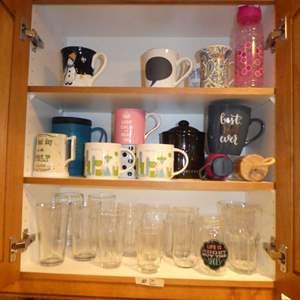Lot # 2 - Assorted Cups & Coffee Mugs