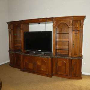 Lot # 22 - High Quality Aspen Furniture Lighted TV Entertainment Wall Unit