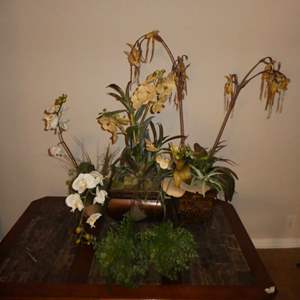 Lot # 33 - Three Artificial Orchids