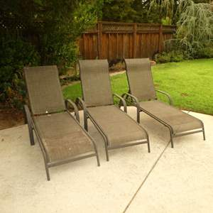 Lot # 37 - Three Outdoor All Weather Patio Loungers