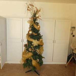 Lot # 42 - Huge Christmas Lot -Beautiful Decorated Artificial Tree, Multi Color Lights, Decor and Ornaments! (See All Photos)