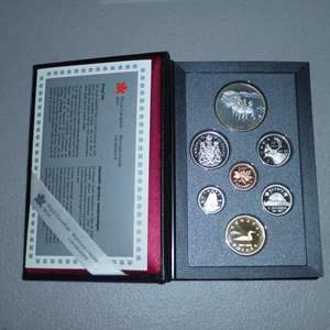 Lot # 44 - 1992 - Royal Canadian Mint - 7 pc Proof Set w/ Silver Dollar