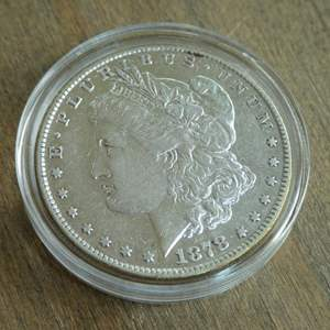 Lot # 73 - 1878 Morgan Silver Dollar - 8 Tail Feathers (very fine)