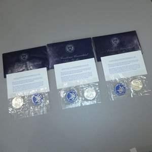 Lot # 2 - Three (3) 1971 Eisenhower Uncirculated Silver Dollars