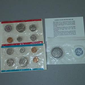Lot # 4 - Two (2) 1972 US Uncirculated Set & One (1) 1889-O Morgan Silver Dollar