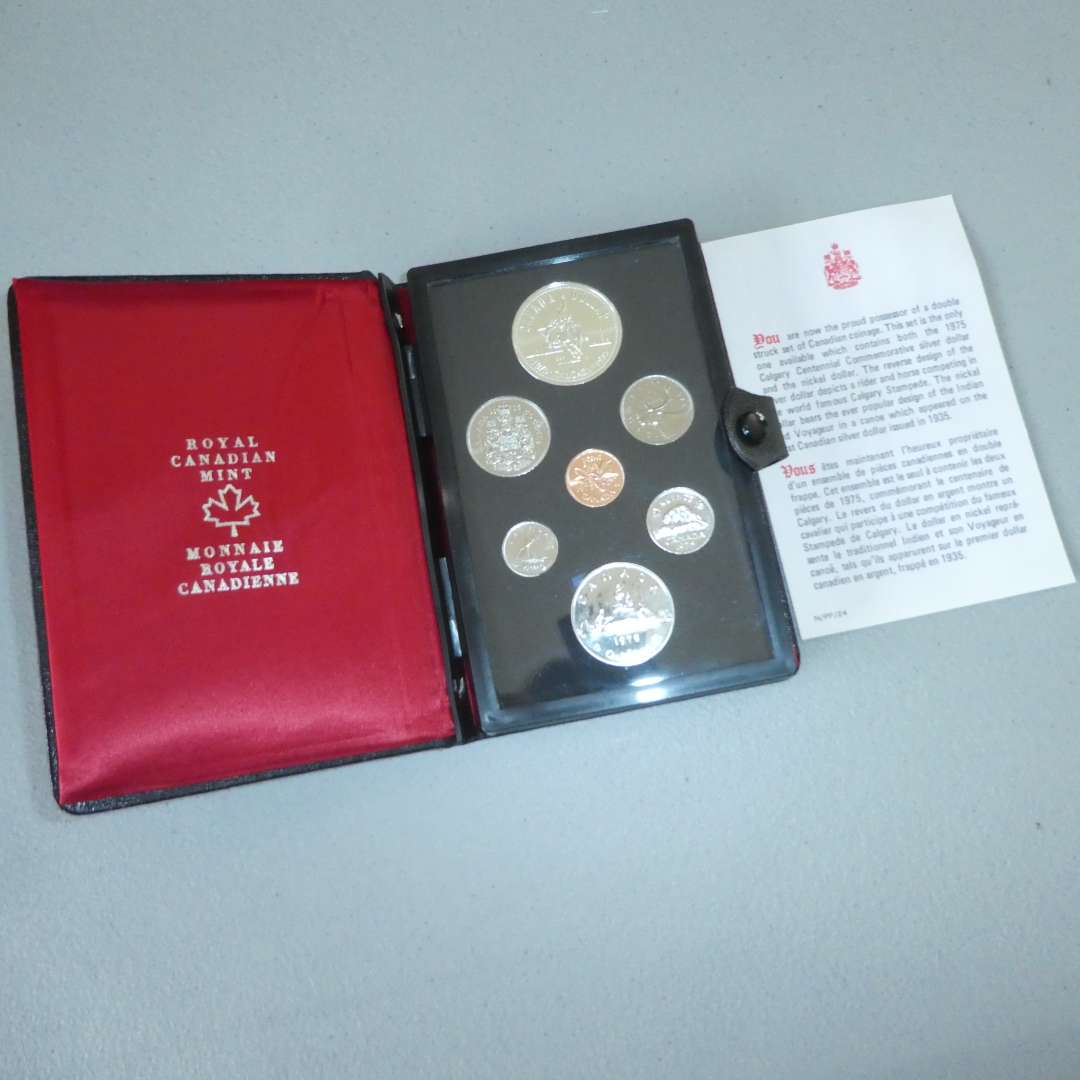 Lot # 6 - 1975 Royal Canadian Proof Set with Silver Dollar, Double Struck set (main image)