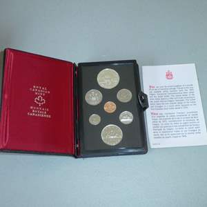 Lot # 7 -1975 Royal Canadian Proof Set with Silver Dollar, Double Struck set