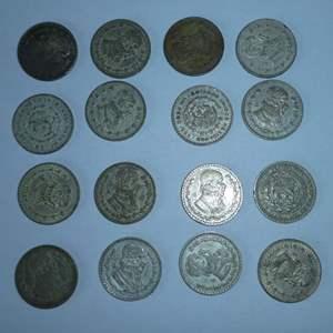Lot # 12 -16 Mexican Silver Peso's (1958-1963)