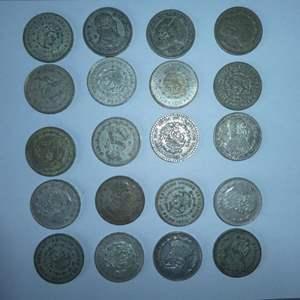 Lot # 13 -20 Mexican Silver Peso's (1957-1966)