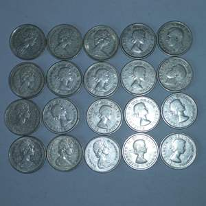 Lot # 14 - 20 Canadian Silver Quarters (dates vary)