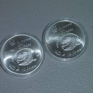 Lot # 23 - Two (2) Royal Canadian Mint 1975 Silver 10 Dollar Coin, Olympiad - Montreal