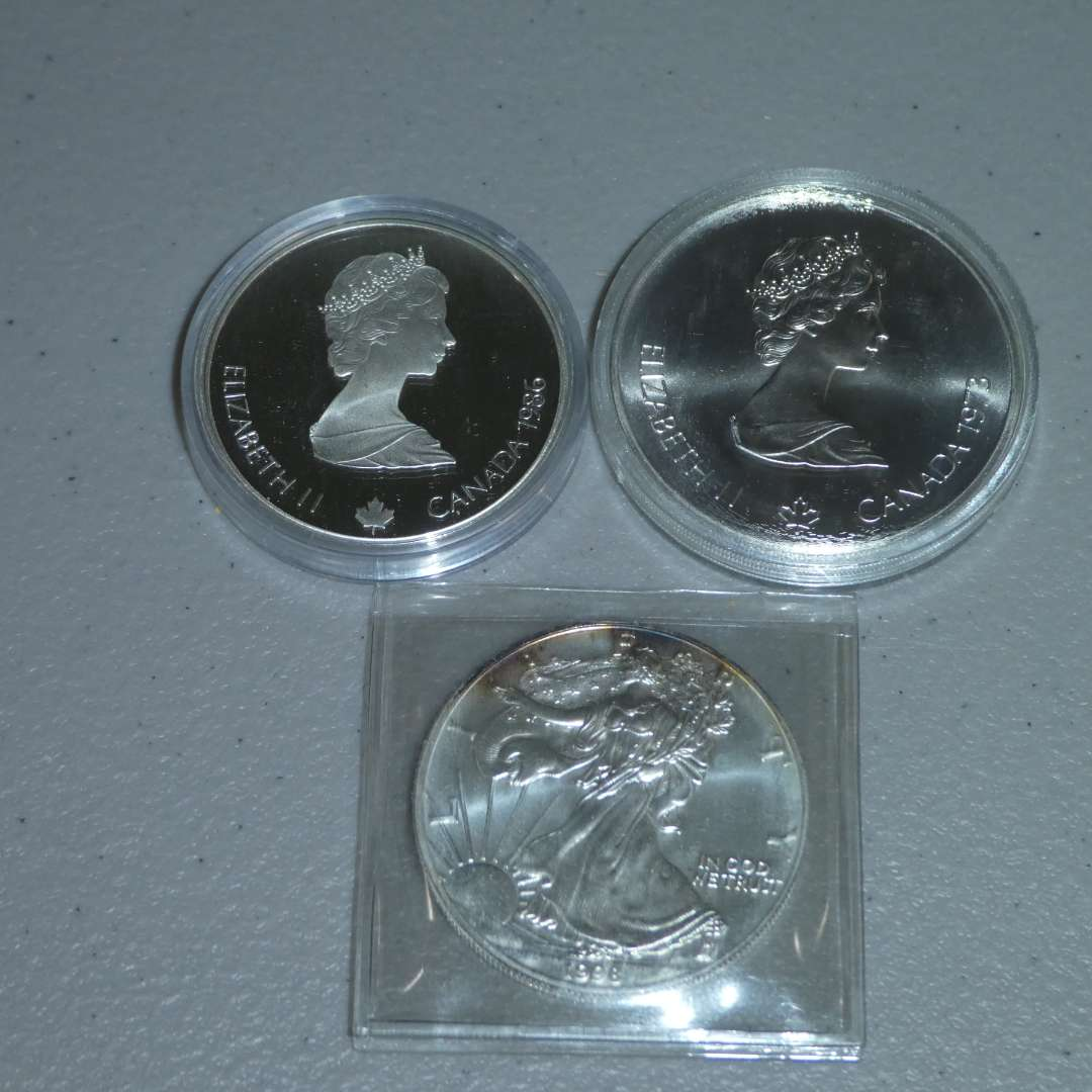 Lot # 28 - 1998 US Mint-Liberty Silver Dollar & Canadian Mint - Olympic Coins (See Full Description) (main image)