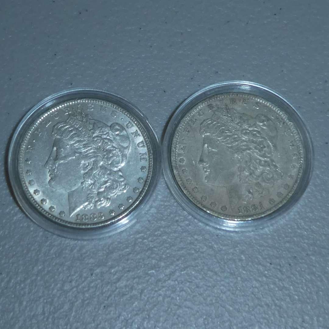 Lot # 33 - 1881-O US Mint - Morgan Dollar, 1883 US Mint - Morgan Dollar - Great Quality (main image)